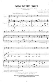 In The Light Sheet Music Joseph M Martin Look To The Light Sheet Music Notes Chords Download Printable Unison Choir Sku 162354