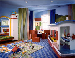 Decorations:Colorful Kid Playroom Design Ideas With Red Color Domination  Attractive And Chic Playroom Design