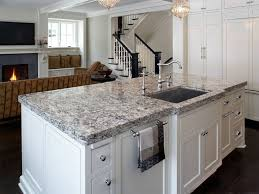 quartz kitchen countertops white cabinets. Cambria Quartz Kitchen Island Countertop - Bellingham Palette Great Contrast To The White Cabinets. Countertops Cabinets C