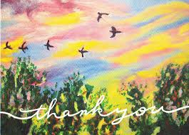 birds painting thank you card by ann whitfield