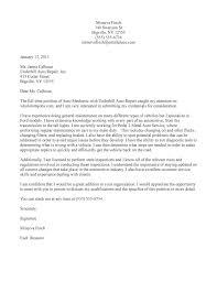 Technician Resume Cover Letter Resume Cover Letter Mechanic Aircraft Mechanic Cover Letter Sle H 60