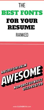 Best 25 Resume Fonts Ideas On Pinterest Resume Ideas Resume