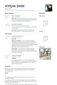 Intern Architect Resume samples