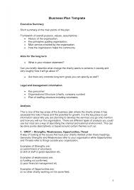 Executive Summary Sample Business Plan Short Template Resume