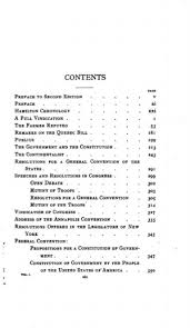 the works of alexander hamilton federal edition vol  original table of contents or first page