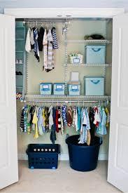 perfect baby boy nursery closet layout and organizing idea