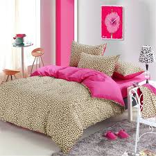 leopard comforter set full cheetah print bedding pink brown kids teenage twin queen king 16