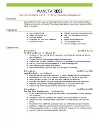 Delivery Driver Resume Stunning Delivery Driver Resume Sample Driver Resumes Livecareer With