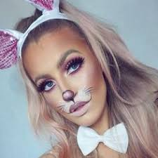 pretty and cute bunny makeup idea for
