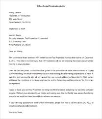 Rental Lease Letters 13 Rental Termination Letter Templates Free Sample Example