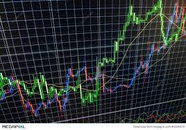 Live Market Quotes Awesome Display Of Stock Market Quotes Chart Graph On Monitor Live Online