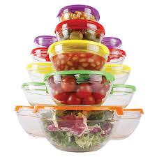 15 piece glass kitchen bowl set