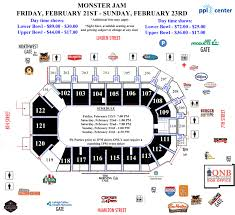 Ppl Center Allentown Pa Seating Chart Monster Jam Triple Threat Series Ppl Center