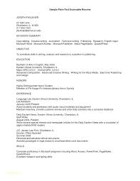 Plain Resume Template Best of Official Resume Template Free Resume Format Download In Ms Word With
