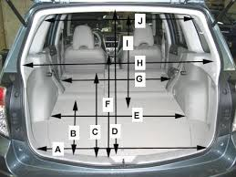 specs for forester interior longest object to fit inside a foz subaru forester owners forum