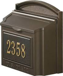 wall mount mailbox shown in french bronze with wall mounted secure mailbox home depot white wall mount mailbox