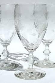 libbey cobalt blue glasses water glasses vintage rock water glasses wheel grey cut glass goblets cobalt