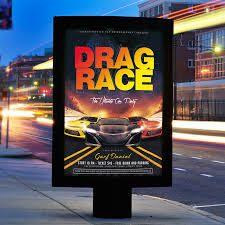 drag race premium flyer template facebook cover