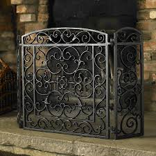 Cast Iron Scroll Fireplace Screen