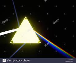 Light Through A Prism Light Passing Through Prism Stock Photos Light Passing