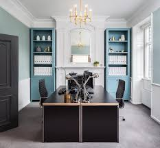 home office black desk. Blue And Black Home Office With Face To Desks Desk B