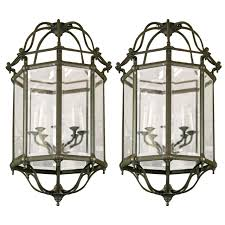 vintage beveled glass lantern style chandeliers for