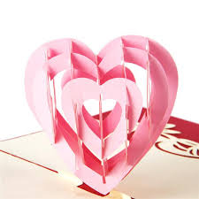 3d pop up greeting post card handmade kirigami heart shape thanksgiving valentine s day gifts card kids birthday cards kids greeting cards from billsping