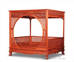 US $19948.1 5% OFF|Factory can be customized King full Bed Frame Chinese Retro Classic double canopy Pencil Post bed Bedframed Solid Wood rosewood on ...