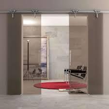 sliding office door. Interior Sliding Glass Door Midcentury-home-office Office