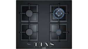 bosch 600mm series 2 4 burner tempered glass gas cooktop black harvey norman au