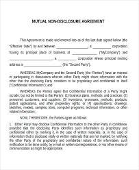 Nda Template Agreement Mutual Nda Form Konmar Mcpgroup Co