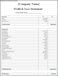 Free Printable Profit And Loss Statement Form Free Printable Profit And Loss Income Statement Template Pages