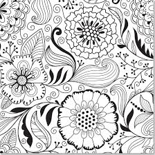Small Picture Butterfly And Flower Coloring Pages For Adults Free Printable New