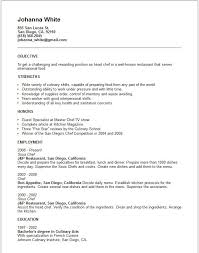 Executive Chef Resume Beauteous 48 Best Chef Resume Objective Gl I48 Resume Samples