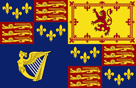 royal standard of the monarch of england scotland and historicalroyal standard of the monarch of england scotland and 1603 1649 1660 1689