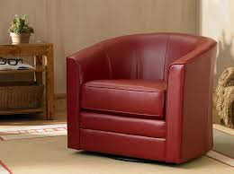 keller scarlet bonded leather swivel club chair ca home kitchen