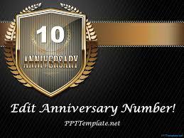 Anniversary Template Free Dark Anniversary Powerpoint Template