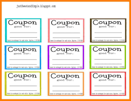 8 Free Coupon Templates For Word St Columbaretreat House