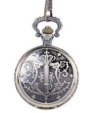 antique bronze harry potter magic wand pocket chain quartz pocket watch pendant necklace gift for men