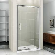 bathroom double shower in ceiling sliding glass doors brown pertaining to glass doors bathroom