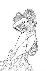 Wonder Woman Superhero Coloring Pages Printable