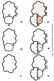 Learn To Draw A Sheep Apprendre Dessiner Pinterest