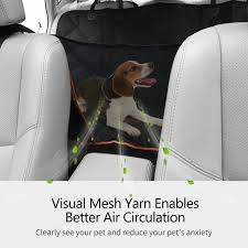 dog car seat covers pet car seat liner with mesh window storage pockets scratch proof waterproof free today 22702839