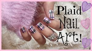Plaid Nail Art With Tutorial Video