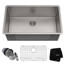 Kraus Handmade 30 In X 18 In Stainless Steel Single Basin Undermount