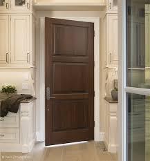 traditional interior three panel kitchen door