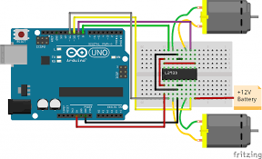 arduino l293d motor driver connection a pin no 8 is used for giving power supply for dc motor if a dc motor operating vole is 12v