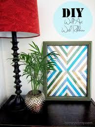 Diy Art Diy Wall Art With Ribbon Homey Oh My