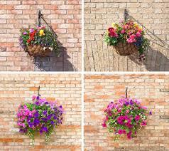 hanging basket flowers ideas diy wall flower planter
