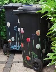 cheap garden decor. Cheap-garden-decoration-ideas-flower-stickers-garbage-cans- Cheap Garden Decor